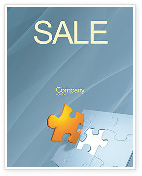 Piece of Puzzle Sale Poster Template