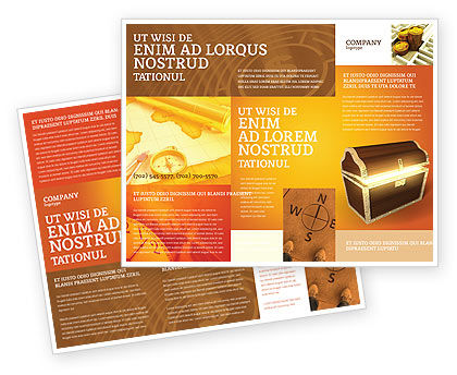 Treasure Brochure Template, 03343, Business Concepts — PoweredTemplate.com