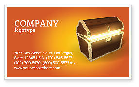 Treasure Business Card Template, 03343, Business Concepts — PoweredTemplate.com