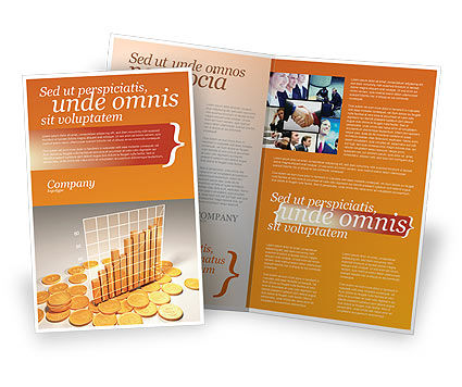 Treasure Diagram Brochure Template, 03350, Financial/Accounting — PoweredTemplate.com