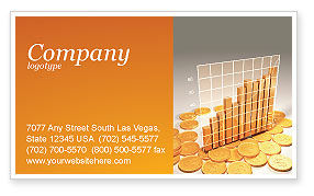 Financial/Accounting: Treasure Diagram Business Card Template #03350