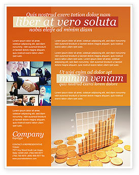 Financial/Accounting: Treasure Diagram Flyer Template #03350