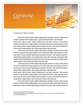 Financial/Accounting: Treasure Diagram Letterhead Template #03350