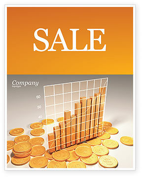 Financial/Accounting: Treasure Diagram Sale Poster Template #03350
