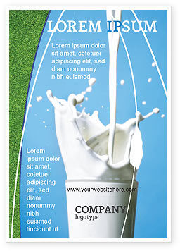 Food & Beverage: Glass Of Milk Ad Template #03357