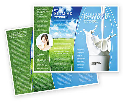 Food & Beverage: Glass Of Milk Brochure Template #03357