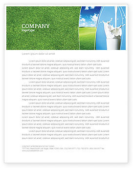 Food & Beverage: Glass Of Milk Letterhead Template #03357