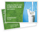 Food & Beverage: Glass Of Milk Postcard Template #03357