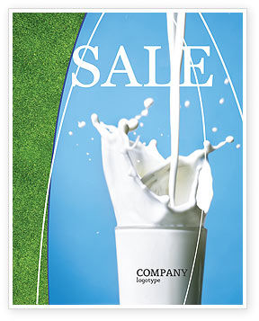 Glass Of Milk Sale Poster Template, 03357, Food & Beverage — PoweredTemplate.com
