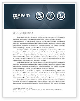Drugstore Letterhead Template, 03359, Medical — PoweredTemplate.com