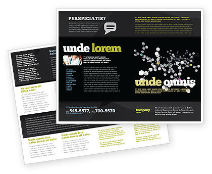 Polymer Brochure Template, 03364, Technology, Science & Computers — PoweredTemplate.com