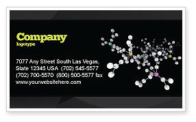 Technology, Science & Computers: Polymer Business Card Template #03364