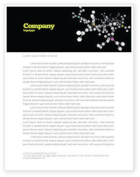 Technology, Science & Computers: Polymer Letterhead Template #03364