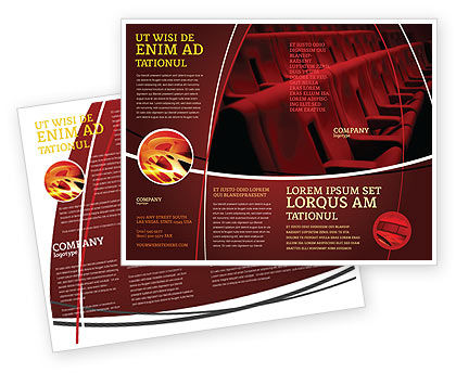 Premiere Brochure Template, 03369, Art & Entertainment — PoweredTemplate.com