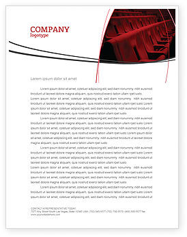 Premiere Letterhead Template, 03369, Art & Entertainment — PoweredTemplate.com