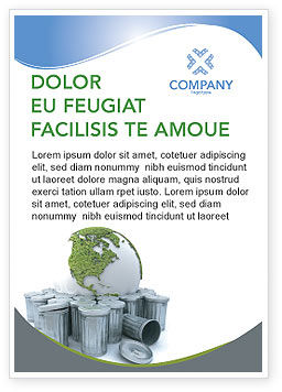 Nature & Environment: Refuse Bin Ad Template #03371