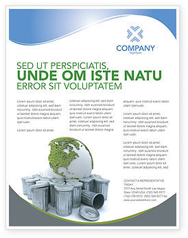 Nature & Environment: Refuse Bin Flyer Template #03371