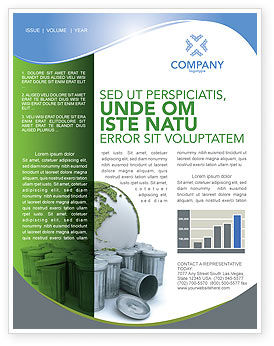 Nature & Environment: Refuse Bin Newsletter Template #03371