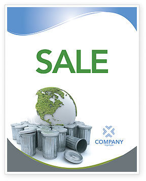 Nature & Environment: Refuse Bin Sale Poster Template #03371
