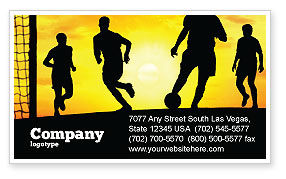 European Football Business Card Template, 03372, Sports — PoweredTemplate.com