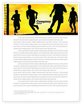 European Football Letterhead Template, 03372, Sports — PoweredTemplate.com