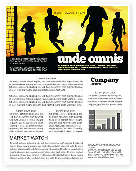 Sports: European Football Newsletter Template #03372
