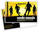 Sports: European Football Postcard Template #03372
