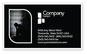 Prison Cell With Prisoner Business Card Template, 03377, Legal — PoweredTemplate.com