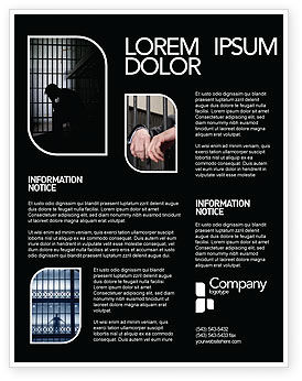 Prison Cell With Prisoner Flyer Template