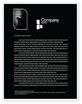 Legal: Prison Cell With Prisoner Letterhead Template #03377
