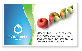 Business Concepts: Three Quarters Apple Business Card Template #03379