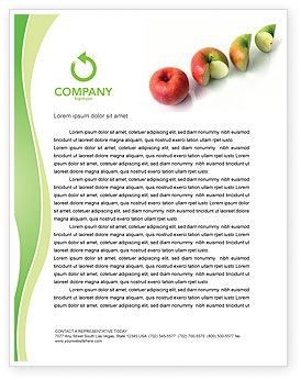 Business Concepts: Three Quarters Apple Letterhead Template #03379