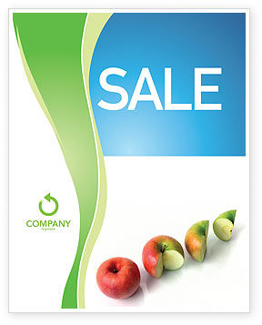 Three Quarters Apple Sale Poster Template, 03379, Business Concepts — PoweredTemplate.com