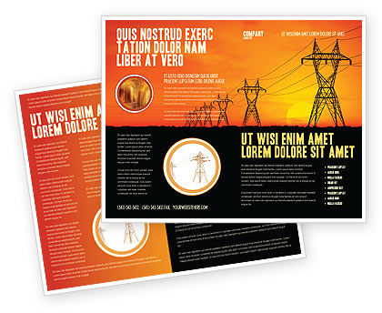 Utilities/Industrial: Transmission Faciliteiten Brochure Template #03380