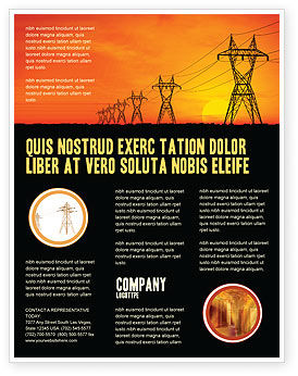 Transmission Facilities Flyer Template, 03380, Utilities/Industrial — PoweredTemplate.com