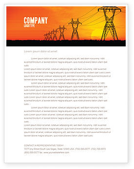 Transmission Facilities Letterhead Template, 03380, Utilities/Industrial — PoweredTemplate.com