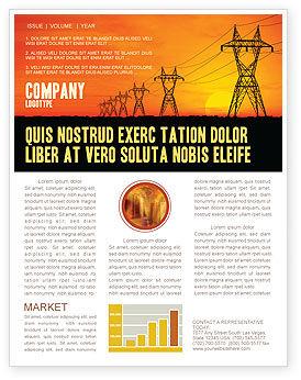 Utilities/Industrial: Modelo de Newsletter - instalações de transmissão #03380