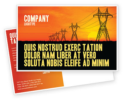 Utilities/Industrial: Transmission Facilities Postcard Template #03380