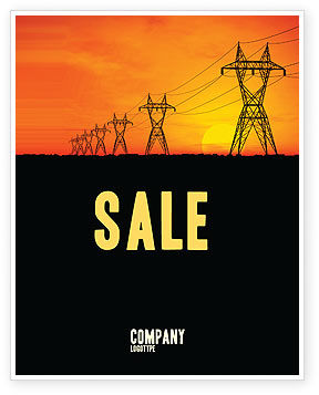 Transmission Facilities Sale Poster Template, 03380, Utilities/Industrial — PoweredTemplate.com