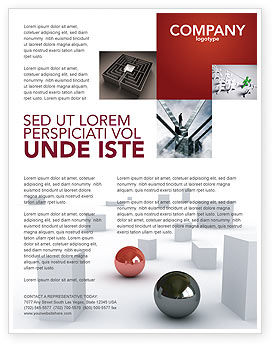 3D: Abstract Problem Solution Flyer Template #03381
