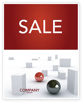 3D: Abstract Problem Solution Sale Poster Template #03381