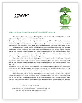 Nature & Environment: Yggdrasill Letterhead Template #03382