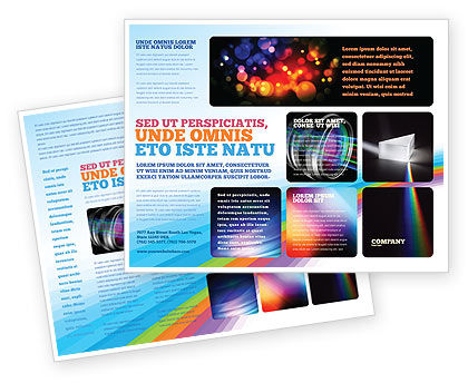 Prism Brochure Template, 03386, Technology, Science & Computers — PoweredTemplate.com