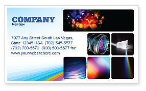 Technology, Science & Computers: Prism Business Card Template #03386