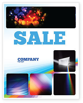 Prism Sale Poster Template, 03386, Technology, Science & Computers — PoweredTemplate.com