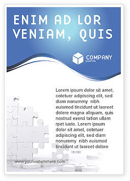 Business Concepts: Puzzle Wall Ad Template #03387