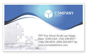 Business Concepts: Puzzle Wall Business Card Template #03387