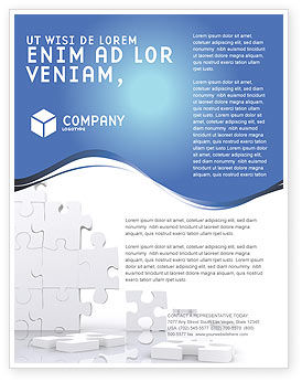 Business Concepts: Puzzle Wall Flyer Template #03387