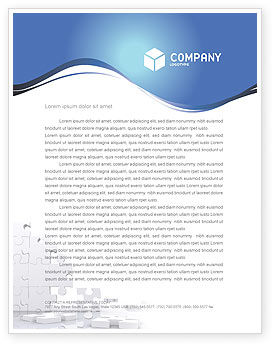 Business Concepts: Puzzle Wall Letterhead Template #03387