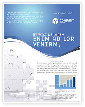 Puzzle Wall Newsletter Template, 03387, Business Concepts — PoweredTemplate.com